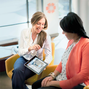 Women Talking with an iPad